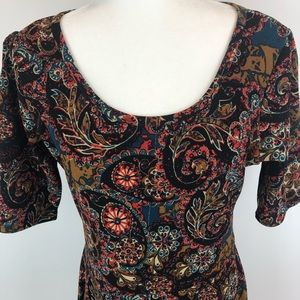 LULAROE Nicole Print Dress Size XL
